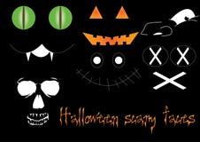 Furchtsame Gesichter Halloweens Stockfotografie