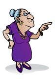 Furchtsame Großmutter stock abbildung