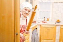 Furchtsame Großmutter Lizenzfreie Stockbilder