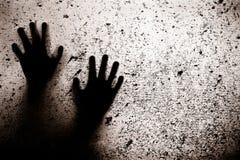 Furchtsame Hände Stockbild