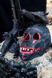 Furchtsame Halloween-Einstellung Stockfoto