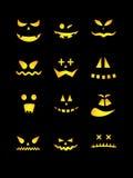 Furchtsame Halloween-Kürbise Stockfotos