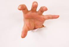 Furchtsame Hand Lizenzfreie Stockfotos