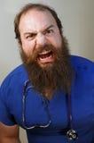 Furchtsame Krankenschwester stockbilder