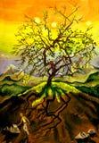 Furchtsamer Baum vektor abbildung