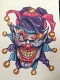Furchtsamer Clown Stockbild