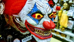 Furchtsamer Clown Masks Lizenzfreies Stockbild