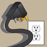 Furchtsamer elektrischer Stecker Stockbild