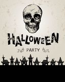Furchtsamer Halloween-Hintergrund stock abbildung
