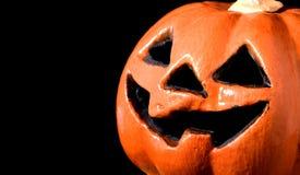 Furchtsamer Halloween-Kürbis Stockfoto