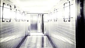 Furchtsamer Horror-Korridor, abstrakter Hintergrund stock footage