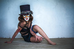 Furchtsamer Monsterclown des Portraits Stockbild
