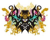 Furchtsamer Schmetterling spritzt Lizenzfreie Stockbilder
