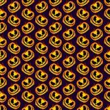 Furchtsamer und gespenstischer Halloween-Kürbis-nahtloses Halloween-Muster Stockbild