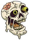 Furchtsamer Zombie-Kopf Stockbild