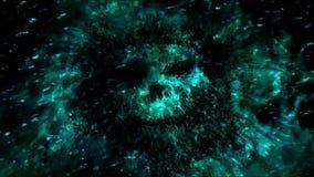 Furchtsames blaues Geistcharaktergesicht lizenzfreie abbildung