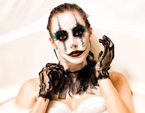 Furchtsames Clownmilchbad lizenzfreie stockbilder