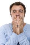 Furchtsames Gesicht Lizenzfreies Stockfoto
