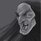 Furchtsames Gesicht mit Hintergrund Stockfoto