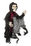 Furchtsames Halloween-Skelett auf Weiß Stockfoto