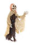 Furchtsames Halloween-Skelett auf Weiß Lizenzfreie Stockbilder