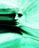 Furchtsames Haut-Gesicht lizenzfreie abbildung