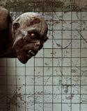 Furchtsames Monster kommen von der Dunkelheit heraus Stockfotografie