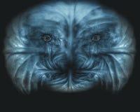 Furchtsames Monstergesichtsbild Stockfotos