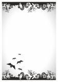 Furchtsames Plakat Halloween-Vektors, Flieger Lizenzfreies Stockbild