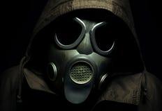Furchtsames Porträt einer Gasmaske Lizenzfreies Stockfoto
