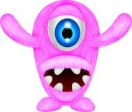 Furchtsames rosa Monster Stockbild