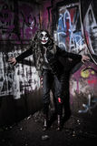 Furchtsames schlechtes Clownmädchen Stockbilder