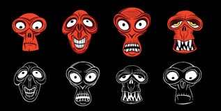 Furchtsames Zombiegesicht der Grausigkeit stock abbildung