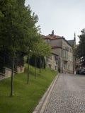 Furcii street in Brasov, Romania royalty free stock photos