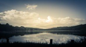 FuresA ¸湖在Hareskoven,丹麦 库存图片