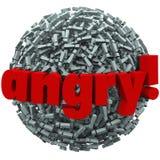 Fureur folle fâchée d'émotion de points d'exclamation de Word illustration stock