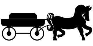 Furgon i koński Obraz Royalty Free