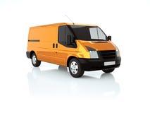 Furgone arancione 3d illustrazione vettoriale