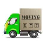 Furgone commovente di rilocazione del camion Immagini Stock Libere da Diritti