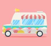 Furgone del gelato di vettore Fotografia Stock Libera da Diritti
