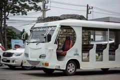 Furgone dello scuolabus di Chiang Mai Rajabhat University Immagini Stock Libere da Diritti