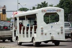 Furgone dello scuolabus di Chiang Mai Rajabhat University Fotografia Stock