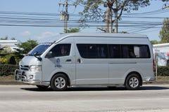 Furgone dello scuolabus di Chiang Mai Rajabhat University Fotografie Stock