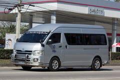 Furgone dello scuolabus di Chiang Mai Rajabhat University Immagine Stock Libera da Diritti