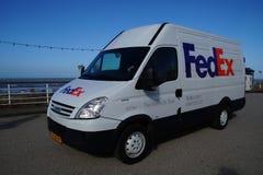 Furgone di consegna di Fedex Fotografia Stock Libera da Diritti