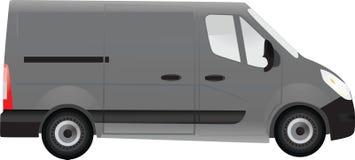 Furgone grigio illustrazione di stock