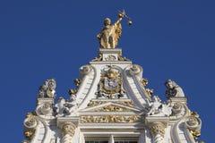 Furgoneta Brujas - Brujas - Bélgica de Stadhuis Imagen de archivo libre de regalías