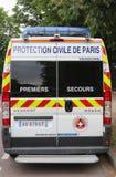 Furgoneta de Civile de París de la protección en París Imagen de archivo libre de regalías
