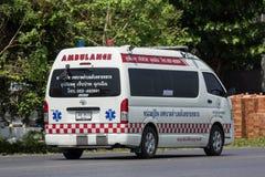 Furgoneta de la ambulancia del Subdistrict de Sansai Luang Fotografía de archivo libre de regalías