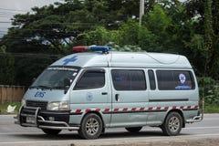 Furgoneta de la ambulancia del Subdistrict de Sansai Luang imágenes de archivo libres de regalías